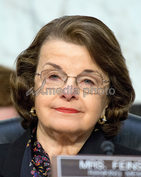 United States Senator Dianne Feinstein (Democrat of California) listens as Judge Neil Gorsuch testifies before the United States Senate Judiciary Committee on his nomination as Associate Justice of the US Supreme Court to replace the late Justice Antonin Scalia on Capitol Hill in Washington, DC on Tuesday, March 21, 2017. Photo Credit: Ron Sachs/CNP/AdMedia