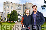 Catherine Fitzgerald and her husband actor Dominic West at the annual Rare and Special Plant Fair at Glin Castle on Sunday