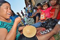 Indígenas bolivianos que marchan hacia la paz en protesta por la construcción de la carretera que partiría en dos el Territorio Indigena Parque Nacional Isidora Sécure (TIPNIS). EFE