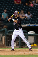 ASU Sun Devils second baseman Carter Aldrete (21) during an Instructional League game against the Texas Rangers at Surprise Stadium on October 6, 2018 in Surprise, Arizona. (Zachary Lucy/Four Seam Images)