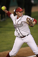 15 February 2008: Stanford Cardinal Michelle Smith during Stanford's 11-0 win against the Wichita State Shockers in the Stanford Invitational I at the Boyd and Jill Smith Family Stadium in Stanford, CA.