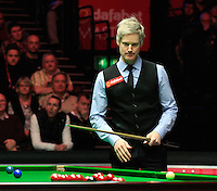 Neil Robertson looks over the table during the Dafabet Masters Quarter Final 2 match between Judd Trump and Neil Robertson at Alexandra Palace, London, England on 15 January 2016. Photo by Liam Smith / PRiME Media Images.