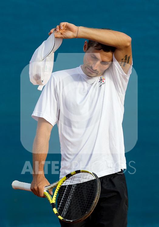 25.07.2011, Umag, CRO, ATP World Tour, Studena Croatia Open, im Bild Simone Vagnozzi (ITA) during a tennis match against  Thomas Fabbiano (ITA) in the last qualifying round of singles at 22nd ATP Studena Croatia Umag 2011, on July 25, 2011, in Umag, Croatia.  (Photo by Vid Ponikvar / Sportida)