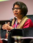 25 June, 2018, Kuala Lumpur, Malaysia : Madhu Meehra of India speaks at the panel discussion on Value and Risk of Criminalising Child Marriage on the opening day at the Girls Not Brides Global Meeting 2018 at the Kuala Lumpur Convention Centre. Picture by Graham Crouch/Girls Not Brides