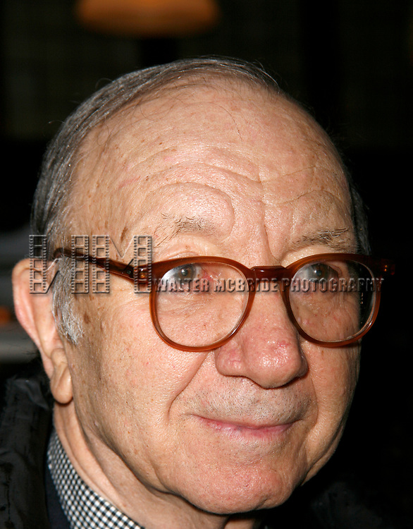 Neil Simon attending the Opening Night after party<br />for the New David Mamet Play NOVEMBER at Restaurant Bond 45 in New York City.<br />January 17, 2008