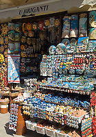 Italy, Calabria, beach resort Tropea: souvenirs shop