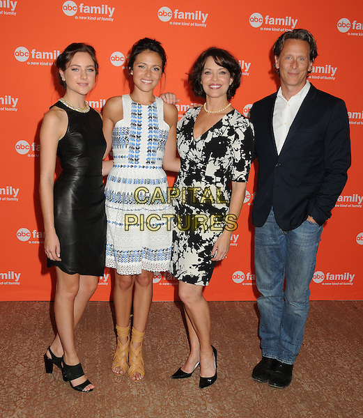 15 July 2014 - Beverly Hills, California - Haley Ramm, Italia Ricci, Mary Page Keller, Steven Weber. Disney/ABC Television Group Summer Press Tour 2014 held at the Beverly Hilton Hotel. <br /> CAP/ADM/BP<br /> &copy;Byron Purvis/AdMedia/Capital Pictures