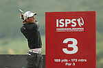 Rhys Enoch hits his tee shot at the 3rd hole during the second round of the ISPS Handa Wales Open 2013 at the Celtic Manor Resort<br /> <br /> 30.08.13<br /> <br /> ©Steve Pope-Sportingwales