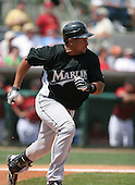 Miguel Olivio of the Florida Marlins vs. the Houston Astros March 15th, 2007 at Osceola County Stadium in Kissimmee, FL during Spring Training action.  Photo copyright Mike Janes Photography 2007.