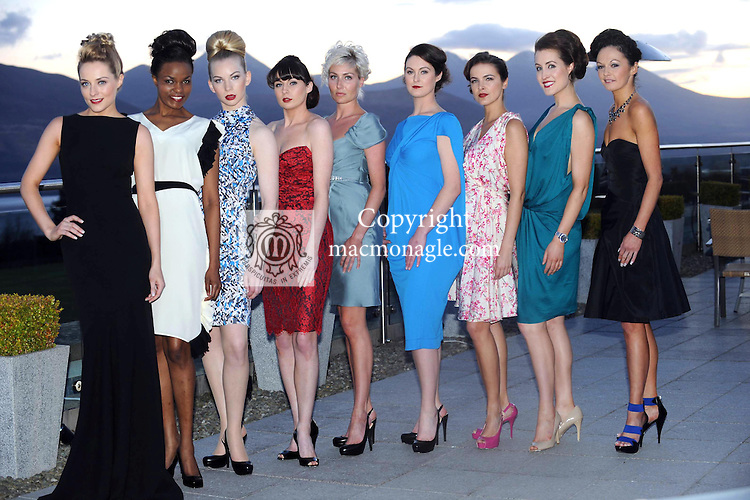 Pictured at the Brown Thomas fashion show which took place at the stunning Aghadoe Heights Hotel, Killarney in aid of 'Irish Autism Action' were from left, Joanne O'Connor, Barny Hassan, Victoria Tynan, Jenifer Lenihan, Aine Doherty, Linda Lenihan, Livia Neilis, Patrice McGillycuddy, and Norma O'Donoghue.<br /> Picture by Don MacMonagle<br /> further info: Valerie Keating 0872464406