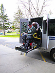 Handicap transport bus vehicle challenged