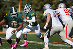 SPEARFISH, SD - OCTOBER 10, 2015 -- Phydell Paris #34 of Black Hills State looks for running room against Western State Colorado during their college football game Saturday at Lyle Hare Stadium in Spearfish, S.D. (Photo by Dick Carlson/Inertia)
