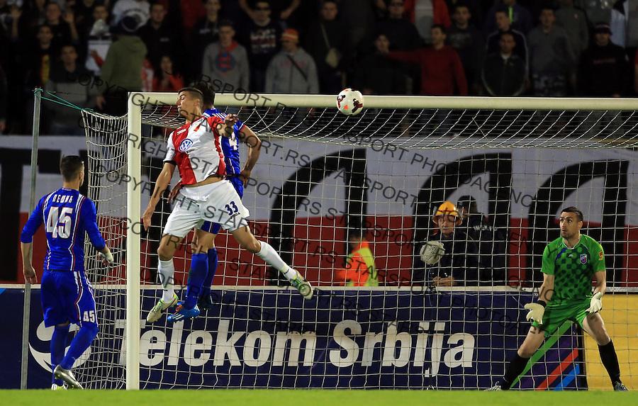 Fudbal Kup Srbije season 2013-2014<br /> Finale Kup-a<br /> Vojvodina v Jagodina<br /> Srdjan Babic (L)  scores the goal<br /> Beograd, 05.07.2014.<br /> foto: Srdjan Stevanovic/Starsportphoto &copy;
