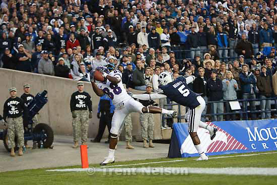 jimmy young, brandon bradley.BYU vs. TCU college football Saturday, October 24 2009 in Provo.