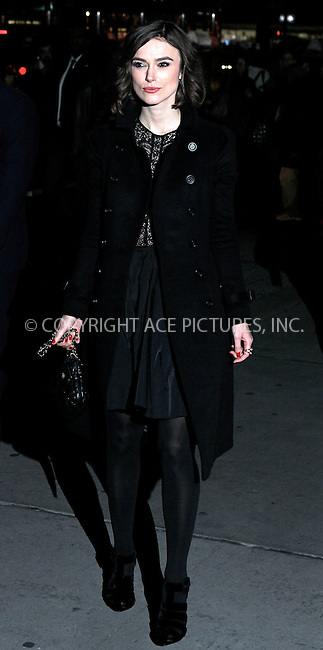 WWW.ACEPIXS.COM . . . . .  ....January 10 2012, New York City....Keira Knightley arriving at the 2011 National Board of Review Awards gala at Cipriani 42nd Street on January 10, 2012 in New York City.....Please byline: NANCY RIVERA- ACE PICTURES.... *** ***..Ace Pictures, Inc:  ..tel: (212) 243 8787 or (646) 769 0430..e-mail: info@acepixs.com..web: http://www.acepixs.com