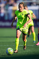 Orlando, Florida - Sunday, May 8, 2016: Seattle Reign FC forward Elli Reed (7) during a National Women's Soccer League match between Orlando Pride and Seattle Reign FC at Camping World Stadium.