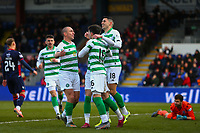 1st December 2019; Global Energy Stadium, Dingwall, Highland, Scotland; Scottish Premiership Football, Ross County versus Celtic; Ryan Christie of Celtic celebrates after giving Celtic the lead 1-0 in the 11th minute - Editorial Use