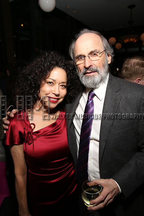 Mimi Lieber and Daniel J. Sullivan attends the Broadway Opening Night After Party for  'Indecent' at Bryant Park Grill on April 18, 2017 in New York City.