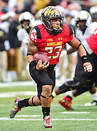 College Park, MD - OCT 1, 2016: Maryland Terrapins running back Lorenzo Harrison (23) in action during game between Maryland and Purdue at Capital One Field at Maryland Stadium in College Park, MD. Harrison finished the game with 78 yards on 6 carries. The Terps got the win 50-7 over visiting Purdue. (Photo by Phil Peters/Media Images International)