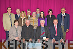 Fr Nicky Walsh, second from right, who retired from Beaufort parish recently pictured with Breda O'Shea, Fr Michael O'Dochartaigh, Neil O'Sullivan, Padraig O'Sullivan, Colm Kelly, Teresa Foley, Timmy Moriarty, Eleanor Clifford, Liam Twomey, Lisa O'Sullivan, Mary Anne Leane and Mickey Foley at a party in his honour in Beaufort Community Centre on Friday night.....   Copyright Kerry's Eye 2008