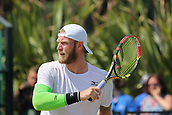 June 17th 2017, Nottingham, England; ATP Aegon Nottingham Open Tennis Tournament day 6;  Backhand volley from Sam Groth of Australia