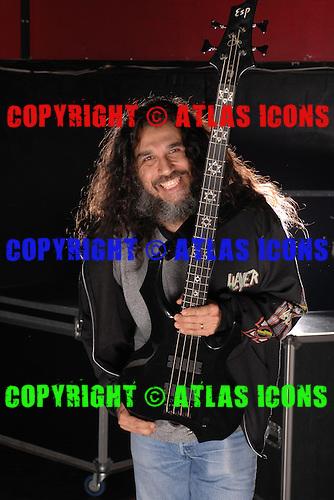 Tom Araya of Slayer, February 24, 2007 .Photo by Larry Marano/ Atlasicons.com.
