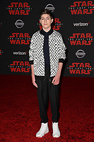 Mason Cook at the world premiere for &quot;Star Wars: The Last Jedi&quot; at the Shrine Auditorium. Los Angeles, USA 09 December  2017<br /> Picture: Paul Smith/Featureflash/SilverHub 0208 004 5359 sales@silverhubmedia.com