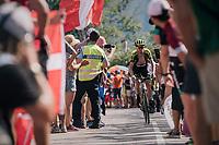 """Sam Bewley (NZL/Mitchelton-Scott) coming through """"Dutch Corner"""" (#7) on Alpe d'Huez<br /> <br /> Stage 12: Bourg-Saint-Maurice / Les Arcs > Alpe d'Huez (175km)<br /> <br /> 105th Tour de France 2018<br /> ©kramon"""