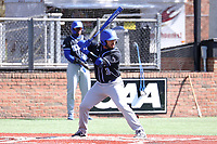 ELON, NC - MARCH 1: Brian Fuentes #3 of Indiana State University waits for a pitch during a game between Indiana State and Elon at Walter C. Latham Park on March 1, 2020 in Elon, North Carolina.
