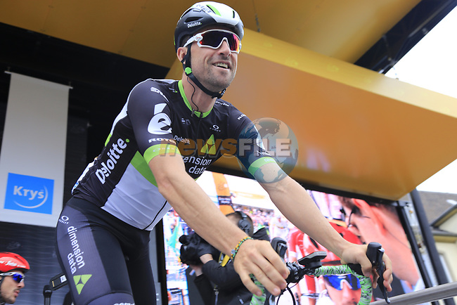 Bernhard Eisel (AUT) Team Dimension Data at sign on in Dusseldorf before the start of Stage 2 of the 104th edition of the Tour de France 2017, running 203.5km from Dusseldorf, Germany to Liege, Belgium. 2nd July 2017.<br /> Picture: Eoin Clarke | Cyclefile<br /> <br /> <br /> All photos usage must carry mandatory copyright credit (&copy; Cyclefile | Eoin Clarke)