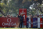 Tiger Woods (USA) in action during the first round of the Omega Dubai Desert Classic played at the Majilis Course, Emirates Golf Club, Dubai, UAE on 10th February 2011..Picture: Phil Inglis / www.golffile.ie.
