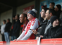 Fleetwood fans<br /> <br /> Photographer Rob Newell/CameraSport<br /> <br /> Emirates FA Cup Second Round - Crawley Town v Fleetwood Town - Sunday 1st December 2019 - Broadfield Stadium - Crawley<br />  <br /> World Copyright © 2019 CameraSport. All rights reserved. 43 Linden Ave. Countesthorpe. Leicester. England. LE8 5PG - Tel: +44 (0) 116 277 4147 - admin@camerasport.com - www.camerasport.com