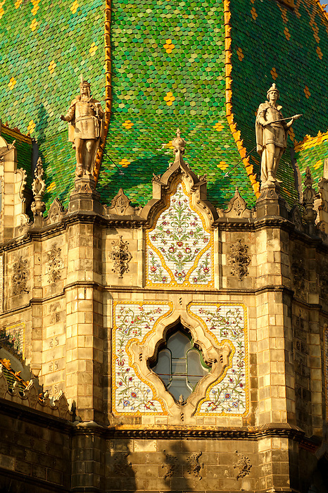 The Art Nouveau Museum of Applied Arts with Zolnay tiled roof. Budapest Hungary