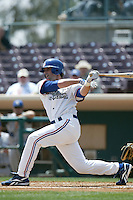 May 30 2007: Luke May of the Inland Empire 66'ers bats against the Rancho Cucamonga Quakes at Arrowhead Credit Union Park in San Bernardino,CA.  Photo by Larry Goren/Four Seam Images