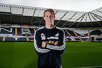 Thursday 01 May 2014<br /> Pictured: Jay Fulton of Swansea City<br /> Re: Swansea City FC Player James Fulton