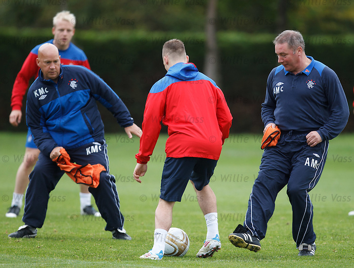 Gregg Wylde goes past Ally McCoist and Kenny McDowall yet again