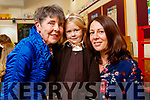 Siobhain Bean Uí Shé, Liadh Ní Shé agus Amy Ní Shé, Tralee, pictured at first day of school at Gaelscoil Mhic Easmainn, Tralee, on Wednesday morning last.
