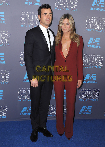 LOS ANGELES, CA - JANUARY 15:  Justin Theroux and Jennifer Aniston at the 20th Annual Critics' Choice Movie Awards at the Hollywood Palladium on January 15, 2015 in Los Angeles, California.  <br /> CAP/MPI/PGSK<br /> &copy;PGSK/MediaPunch/Capital Pictures