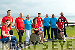 L-R Marian Godley, race organiser, Seamus Falvey, Mike Harkin, race organiser, Moira Horgan, Megan Harkin, Brendan Moynihan, Dave Kissane, St Brendans Athletic club, PRO, Shaz Malik, Chairperson of St Brendans Athletic club, Lisa Harkin and John Clifford, pictured in Ballyheigue at the Launch of the 'Half on the Head' event which takes place this Saturday, June 16th.
