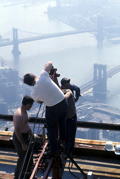 Iron workers on South Tower of WTC