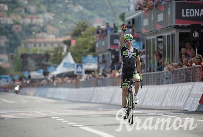 Davide Formolo (ITA/Cannondale-Garmin) wins stage 4<br /> <br /> 2015 Giro<br /> stage 4: Chiavari - La Spezia (150km)