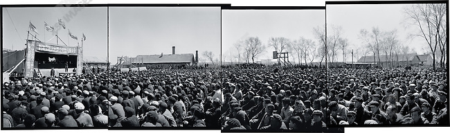 "Mass rally to denounce the ""four elements"", Liaodian commune, Acheng county, Heilongjiang province, 13 May 1965."