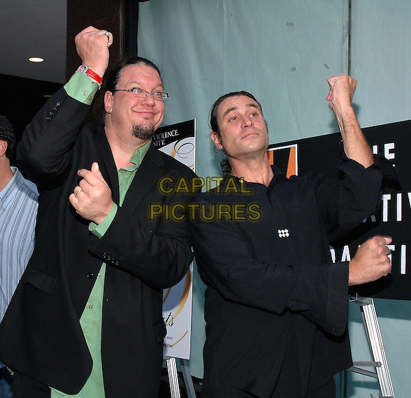 "26 July 2005 - New York, New York - Penn Jillette, and Paul Provenza arrive at the premiere of their new film, ""The Aristocrats"", at The Directors Guild Theater in Manhattan.  .Photo Credit: Patti Ouderkirk/AdMedia"