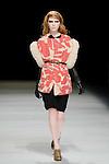 March 19th, 2012: Tokyo, Japan  A model walks down the catwalk wearing KAMISHIMA CHINAMI during Mercedes-Benz Fashion Week Tokyo 2012 - 13 Autumn/Winter. The Mercedes-Benz Fashion Week Tokyo runs from March 18-23. (Photo by Yumeto Yamazaki/AFLO).