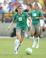Heather O'Reilly #10 of Abby's XI during the WPS All-Star game against Marta's XI at the KSU Stadium in Kennesaw, Georgia on June 30 2010. Marta XI won 5-2.