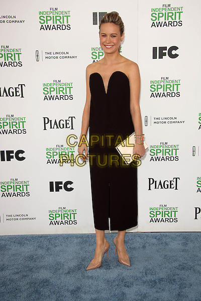 SANTA MONICA, CA - March 01: Brie Larson at the 2014 Film Independent Spirit Awards Arrivals, Santa Monica Beach, Santa Monica,  March 01, 2014. Credit: Janice Ogata/MediaPunch<br /> CAP/MPI/JO<br /> &copy;JO/MPI/Capital Pictures
