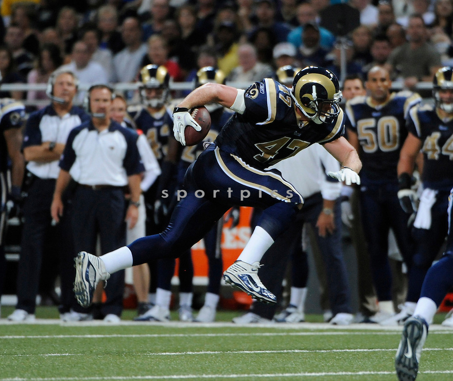 BILLY BAJEMA, of the St. Louis Rams, in action during the Rams game against the San Diego Chargers on October 17, 2010 at the Edward Jones Dome in St. Louis, Missouri...St. Louis beats San Diego 20-17
