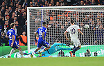 PGS's Zlatan Ibrahimovic scoring his sides second goal <br /> <br /> - UEFA Champions League - Chelsea vs Paris Saint Germain - Stamford Bridge - London - England - 9th March 2016 - Pic David Klein/Sportimage
