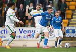 St Johnstone v Celtic...15.05.15   SPFL<br /> Michael O'Halloran gets past Adam Matthews<br /> Picture by Graeme Hart.<br /> Copyright Perthshire Picture Agency<br /> Tel: 01738 623350  Mobile: 07990 594431