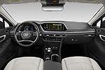 Stock photo of straight dashboard view of 2020 Hyundai Sonata Limited 4 Door Sedan Dashboard
